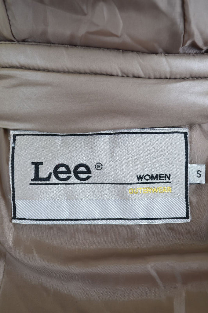 LEE Womens Paded Jacket Size 8 Small Brown Polyester - Second Hand & Vintage Designer Clothing - Messina Hembry