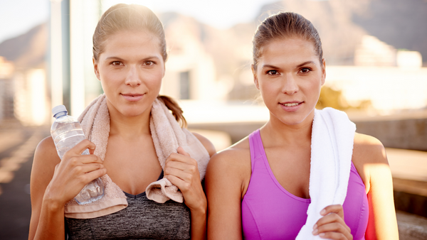 two women sweating from a killer walk workout