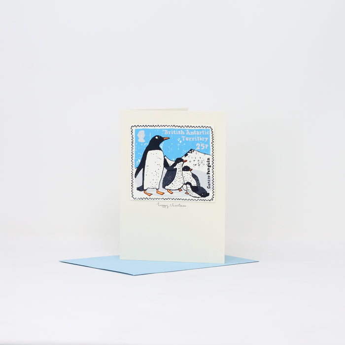 'Gentoo Penguins' Christmas card by Charlotte Farmer.