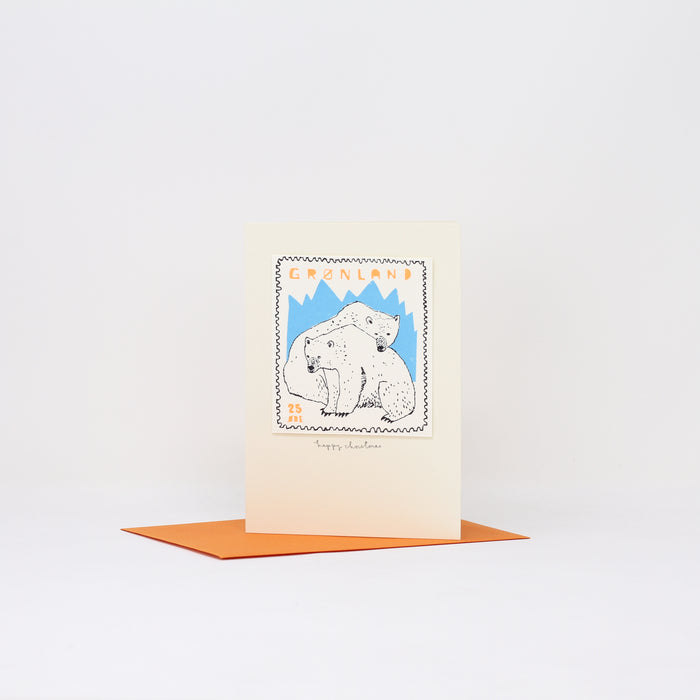 'Polar Bear' Christmas card by Charlotte Farmer.