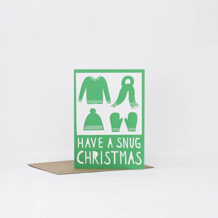 'Have a snug Chrsitmas' card by Alison Hardcastle.