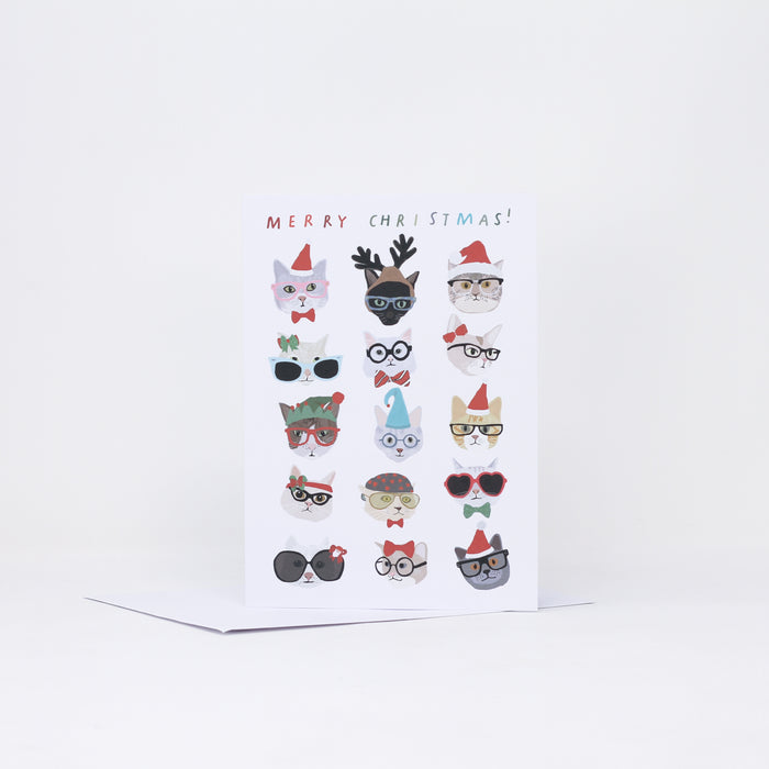 Spectacled Cats Christmas Card