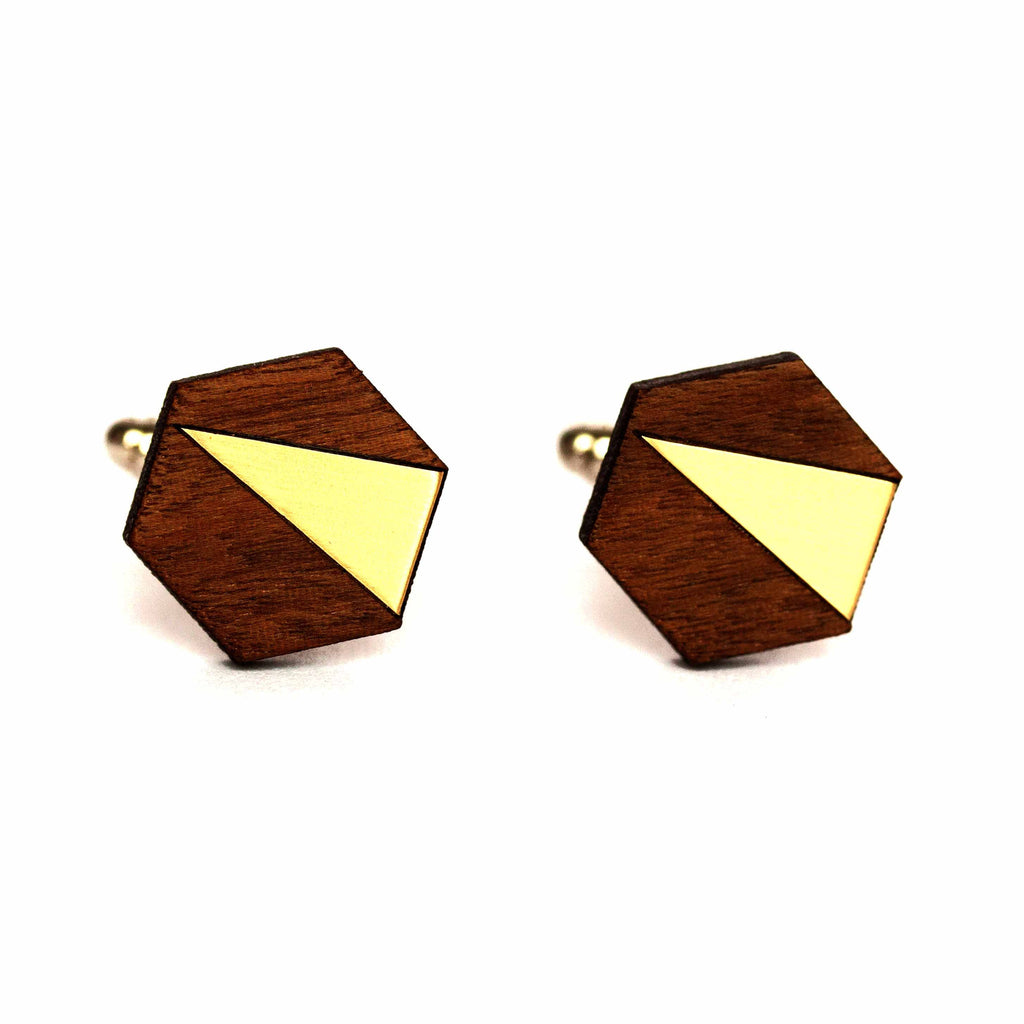 Brass 'Adam' Cufflinks