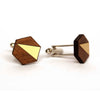 Metal Adam Cufflinks Brass