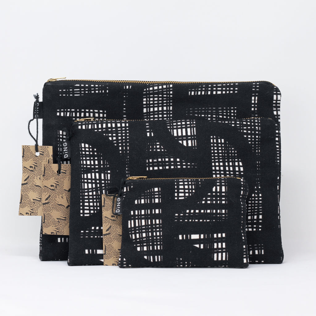 LINE Black Pouches
