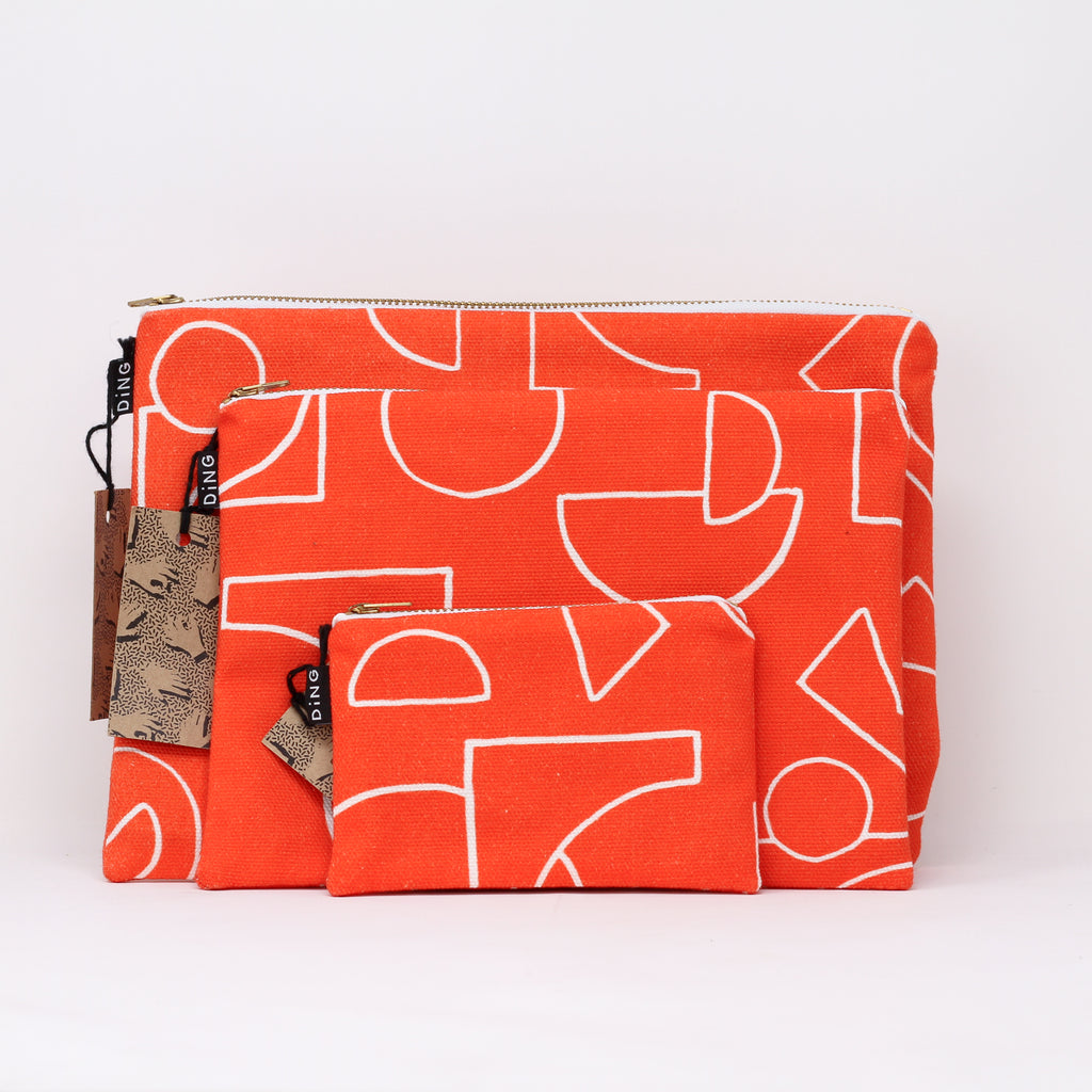 Line Red Pouches
