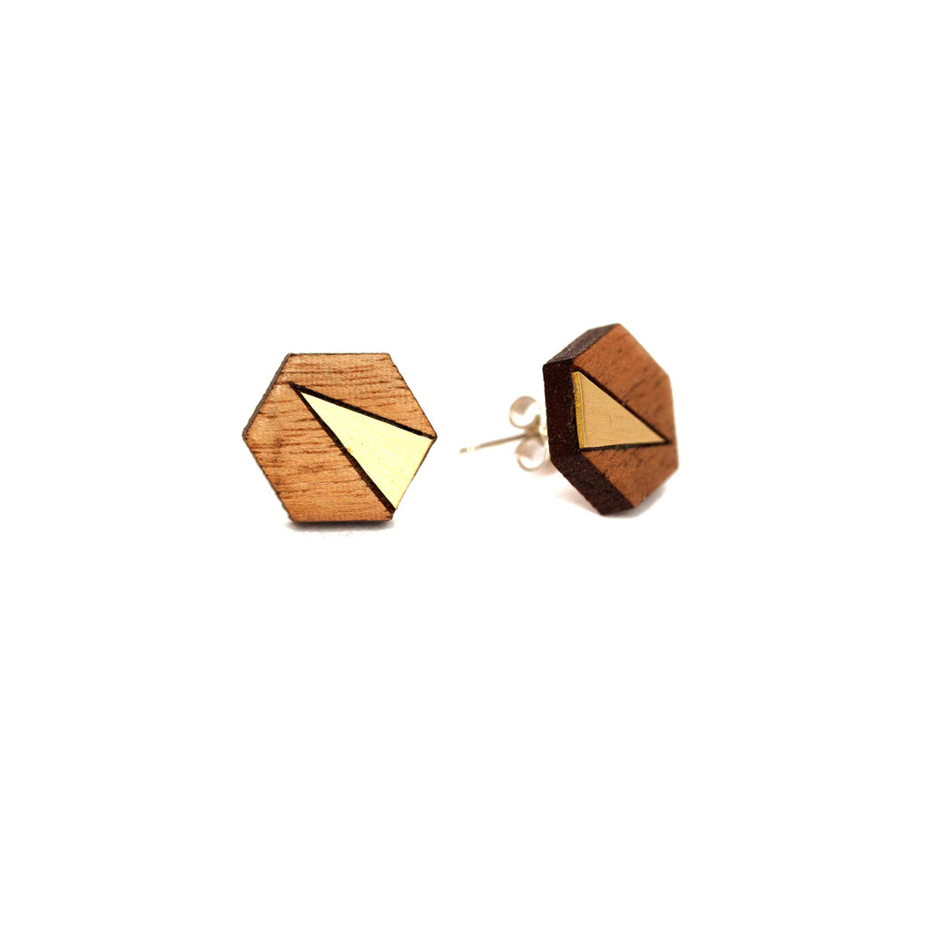 Elsa Small Earrings Brass