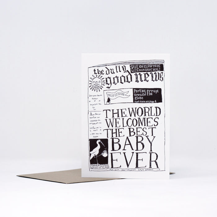 Good News Baby Greeting Card