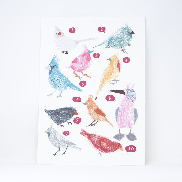 'Counting Birds' digital print by Hanna Melin.