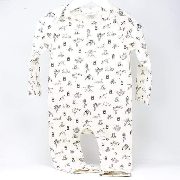 'Animal Yogi' baby jumpsuit by Yoga Baby.