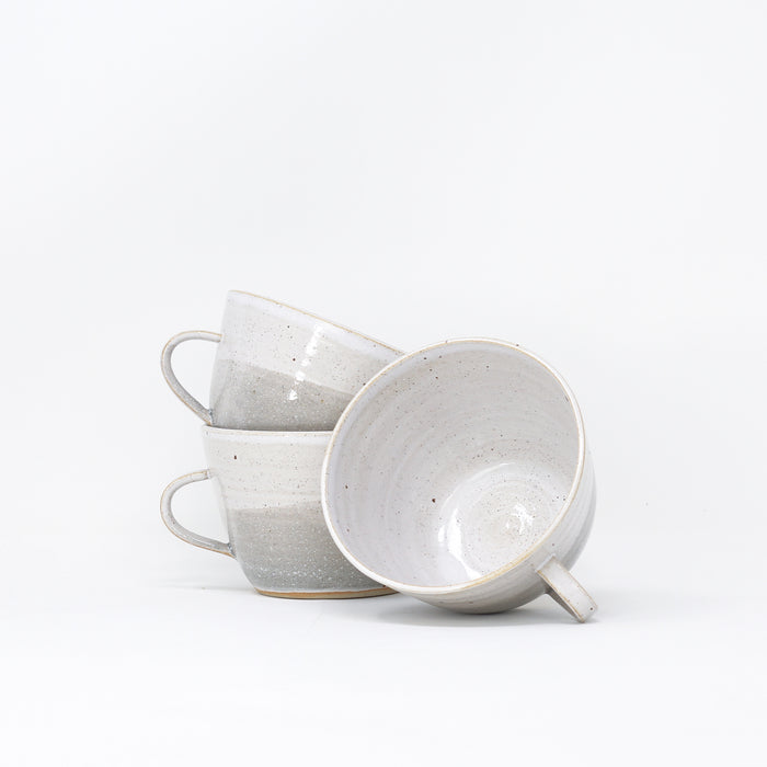 'Dinky Cup - Misty Morning' hand thrown cups by Libby Ballard.