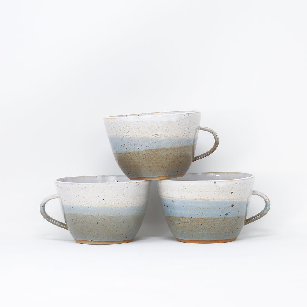 'Dinky Cup - Hazy Skyline' hand thrown cups by Libby Ballard.