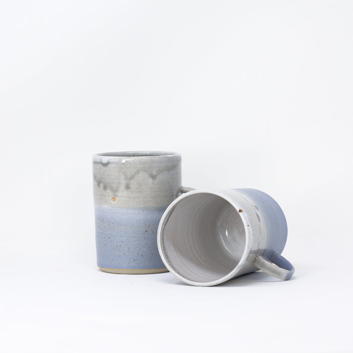 'Cosy Mug - Sea Dawn' hand thrown mugs by Libby Ballard.
