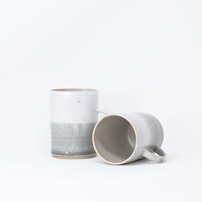 'Cosy Mug - Misty Morning' hand thrown mugs by Libby Ballard.