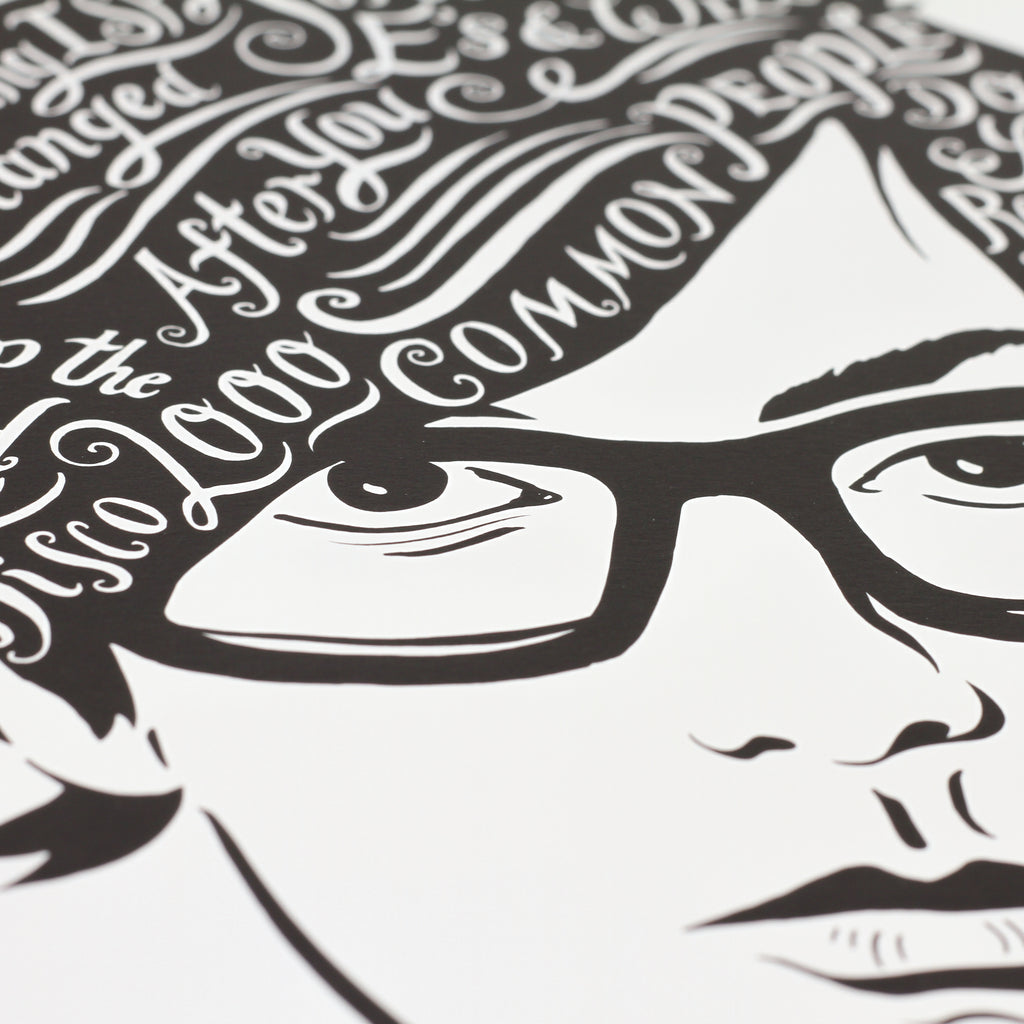Close up shot of 'Jarvis' print by Lucy Loves This.