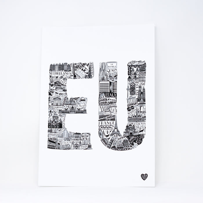 'EU' print by Lucy Loves This.