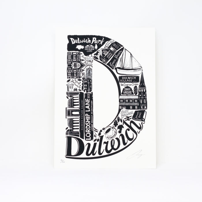 'Best of Dulwich' limited edition screenprint by Lucy Loves This.