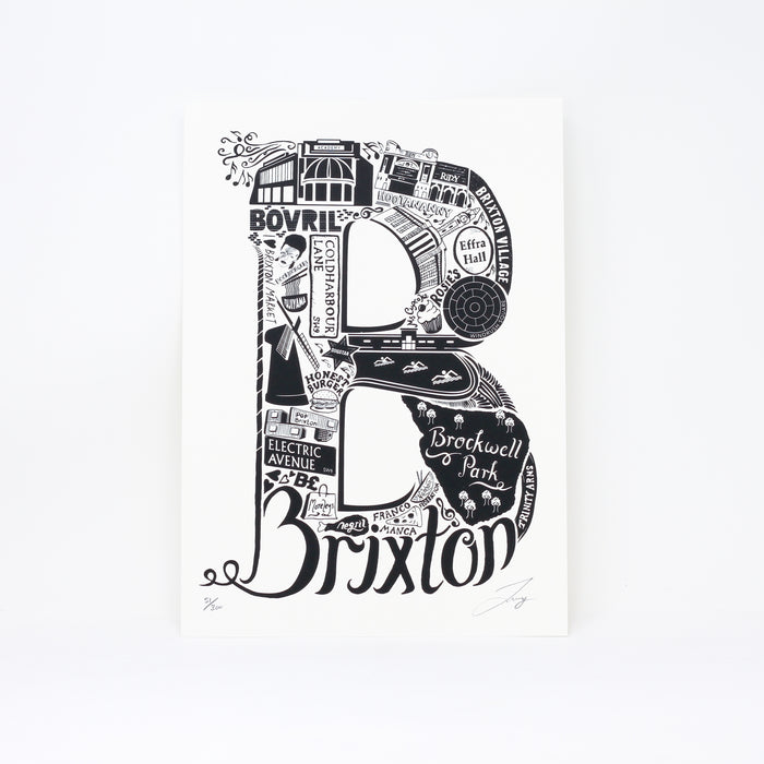 'Best of Brixton' limited edition screenprint by Lucy Loves This.