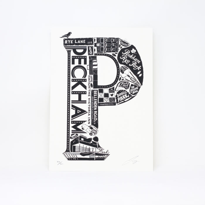 'Best of Peckham' limited edition screenprint by Lucy Loves This.