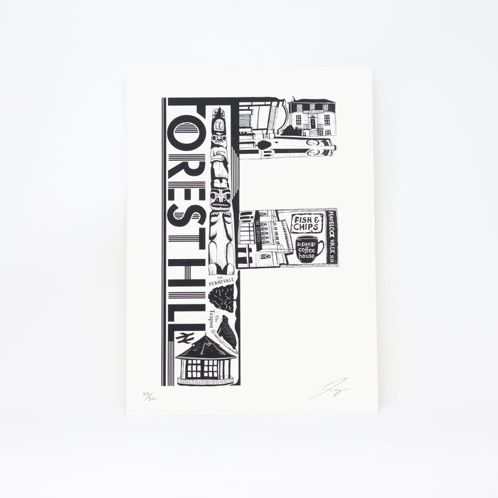 'Best of Forest Hill' limited edition screenprint by Lucy Loves This.