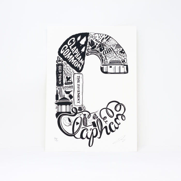 'Best of Clapham' limited edition screenprint by Lucy Loves This.