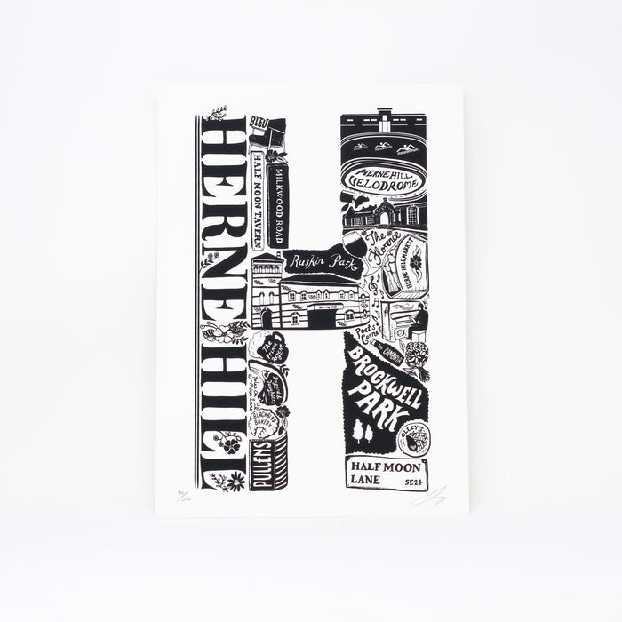 'Best of Herne Hill' limited edition screenprint by Lucy Loves This.