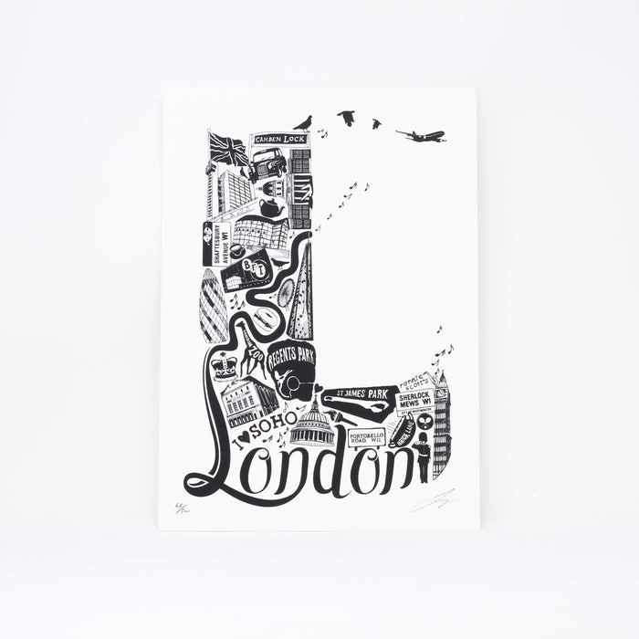 'Best of London' limited edition screenprint by Lucy Loves This.