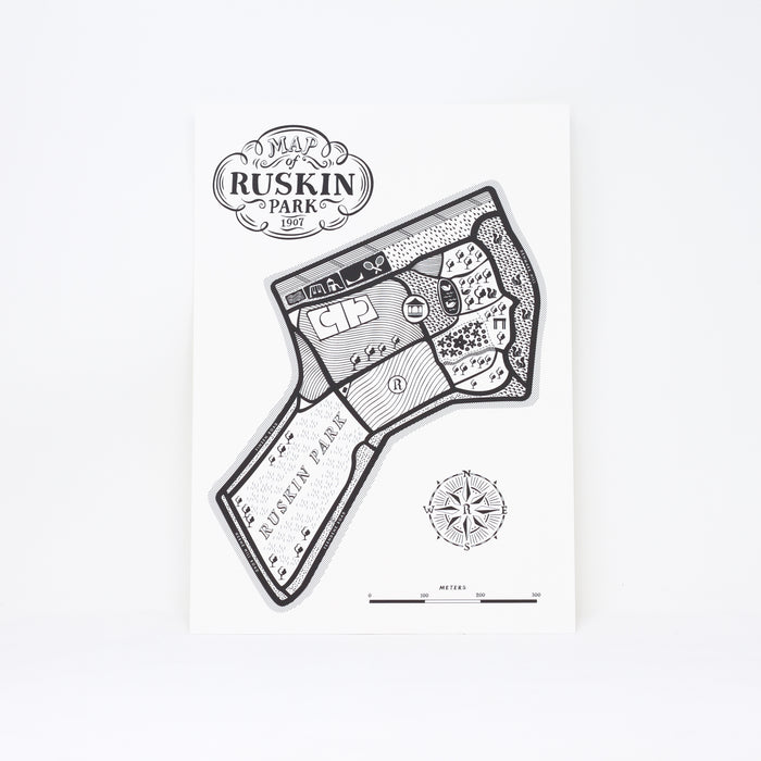 'Map of Ruskin Park' print by Lucy Loves This.