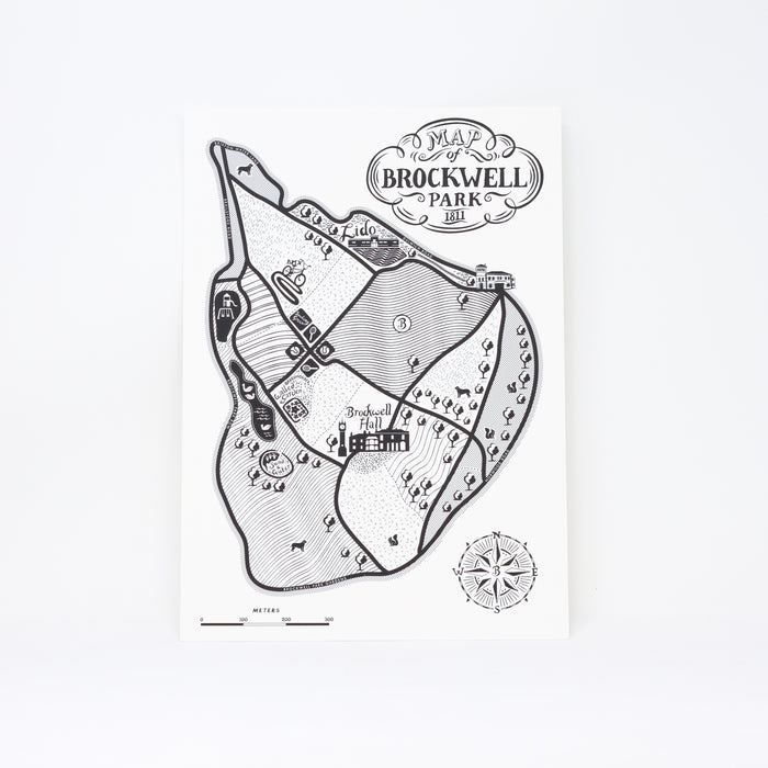 'Map of Brockwell Park' print by Lucy Loves This.