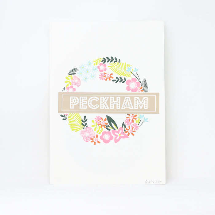 'Peckham' screenprint by Ginger Line Designs.
