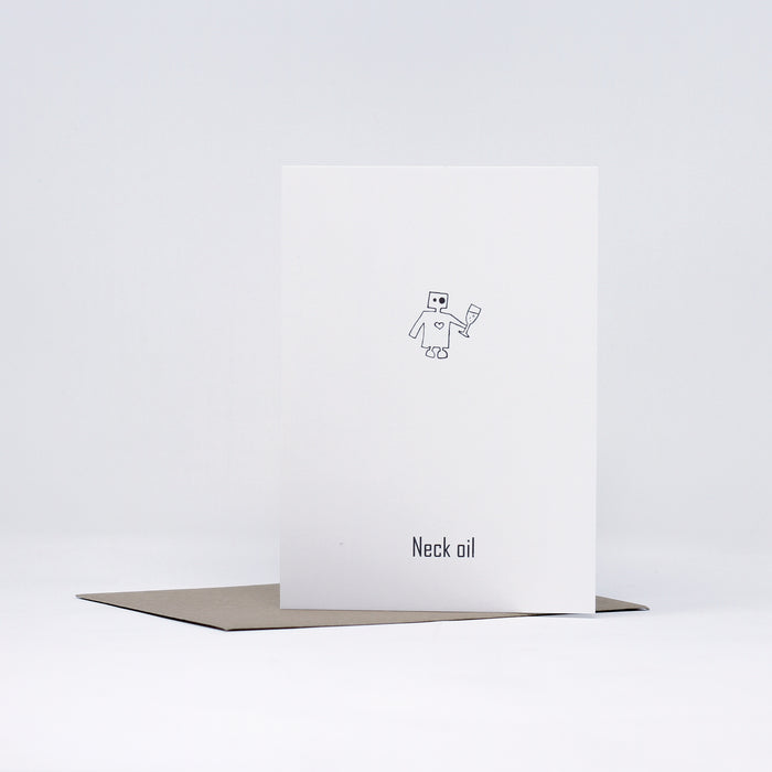 Robot Neck Oil Greeting Card