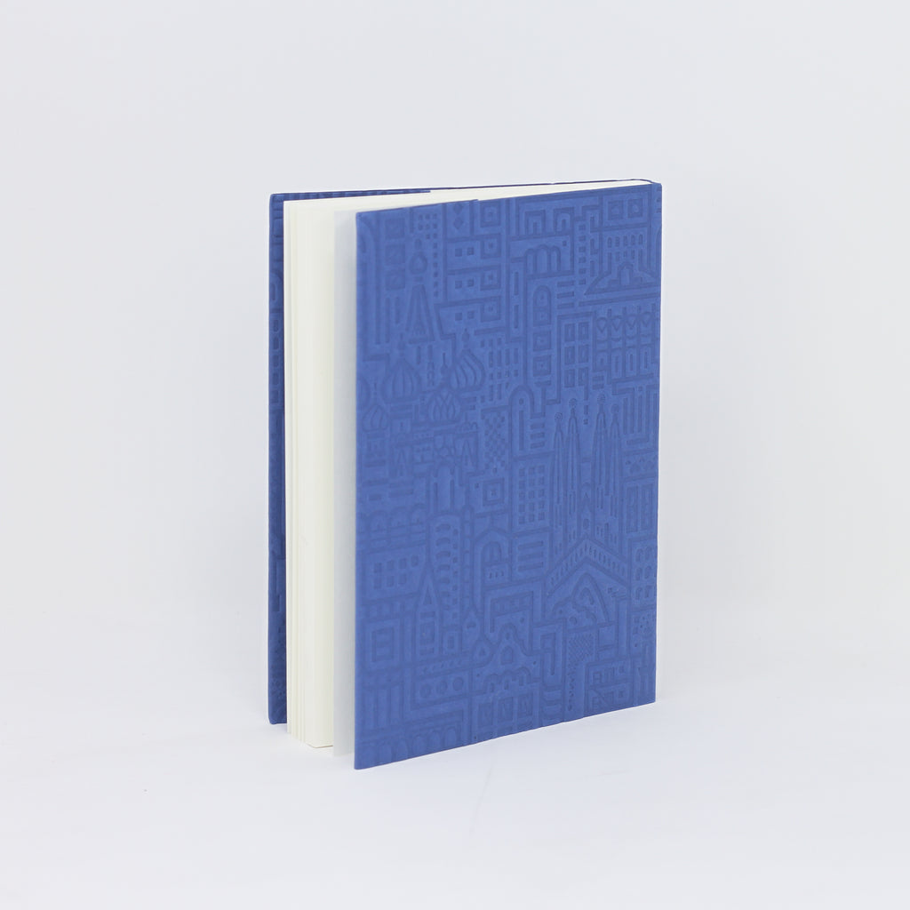 'Hello World' blue debossed notebook by The City Works.