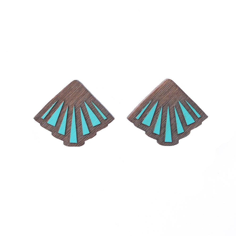 Rayon Teal Earrings