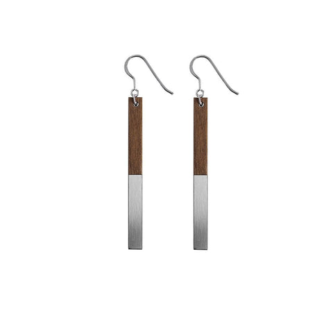Metal Zelda Drop Earrings Steel