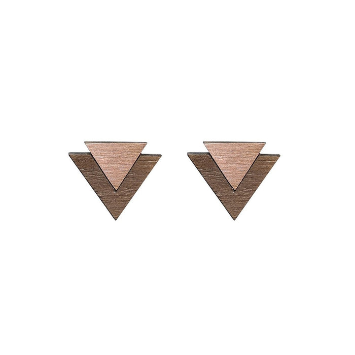 Copper 'Art' Cufflinks