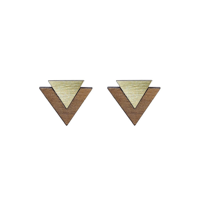 Brass 'Art' Cufflinks