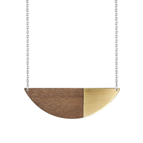 Metal Alexandra Necklace Brass