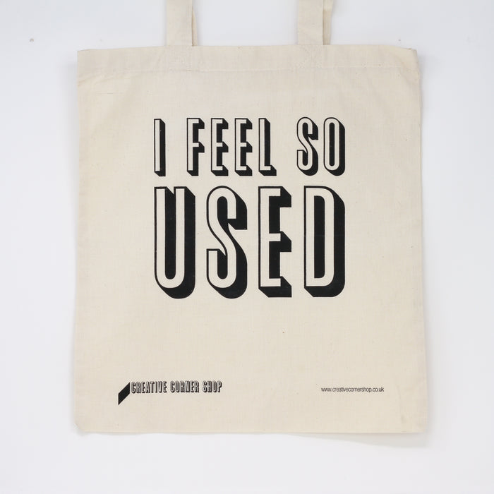 I FEEL SO USED TOTE BAG