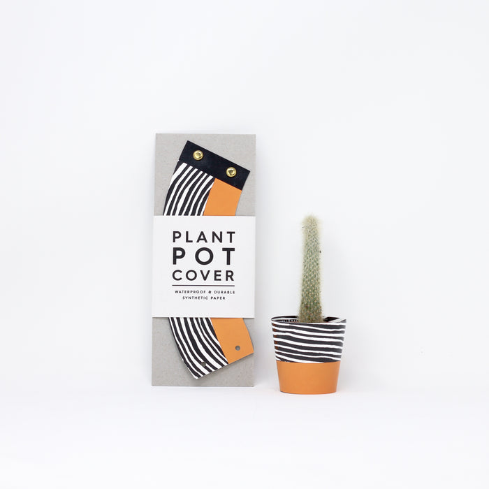 Small 'Wood' plant pot cover by Studio Wald.