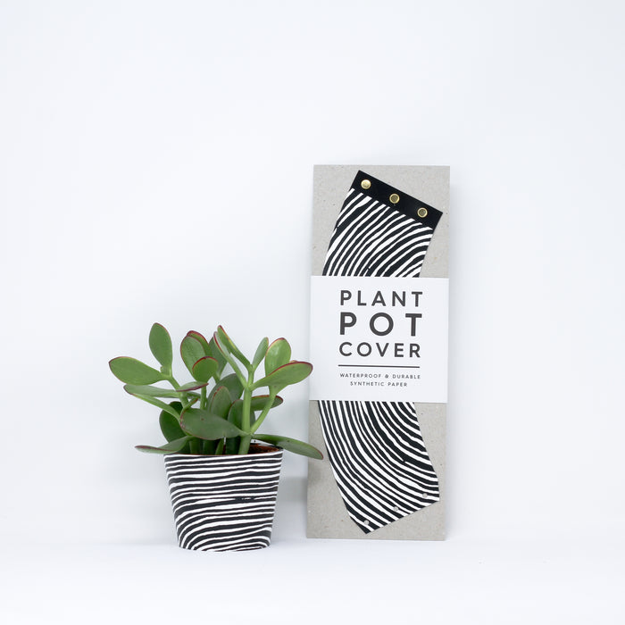 Medium 'Wood' plant pot covers by Studio Wald..