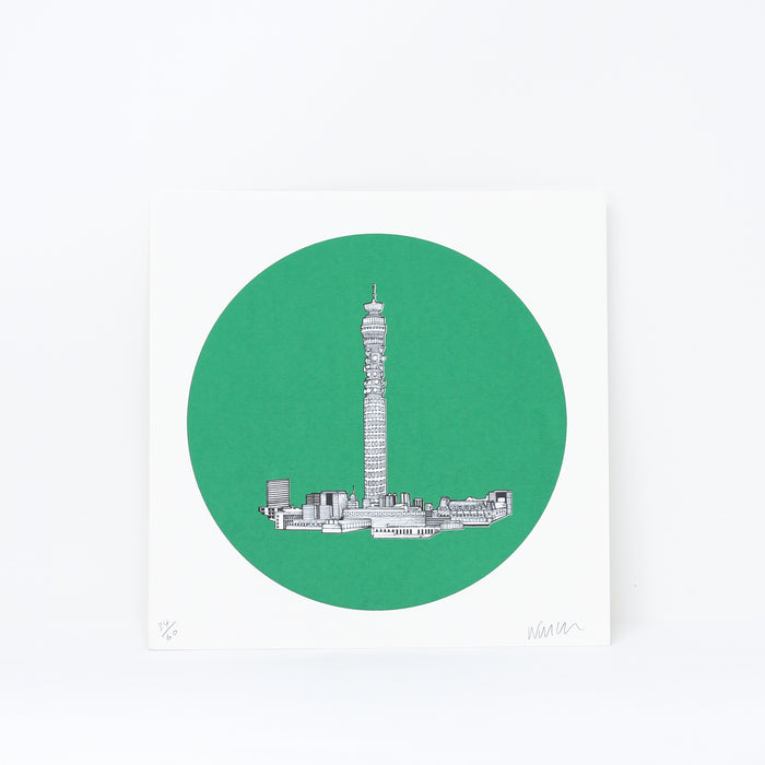 'BT-Tower' limited edition by Will Clarke.