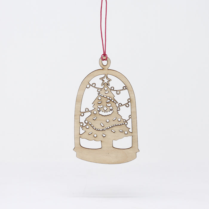 Snow Globe Tree Ornament