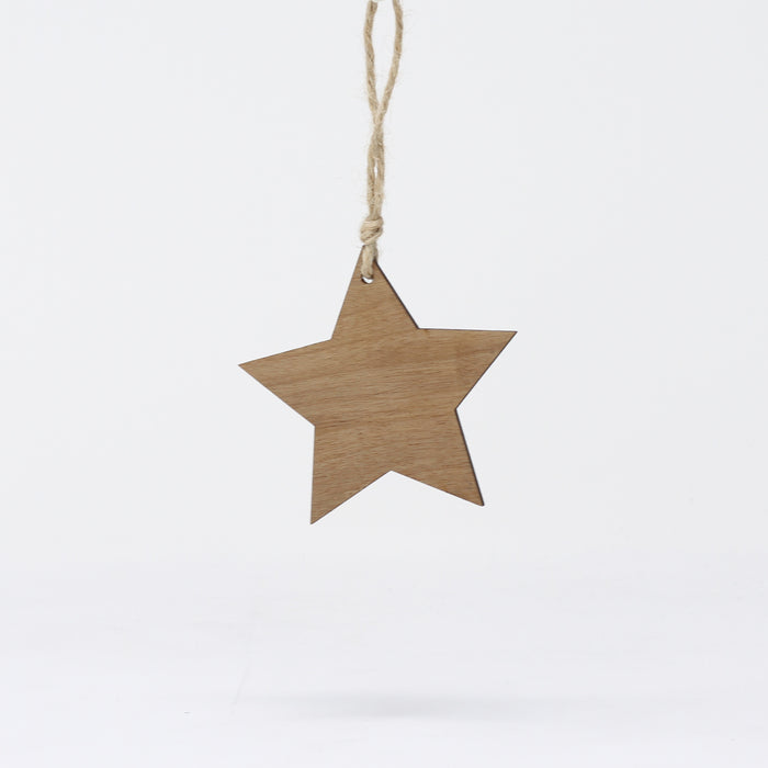Walnut Star Decoration
