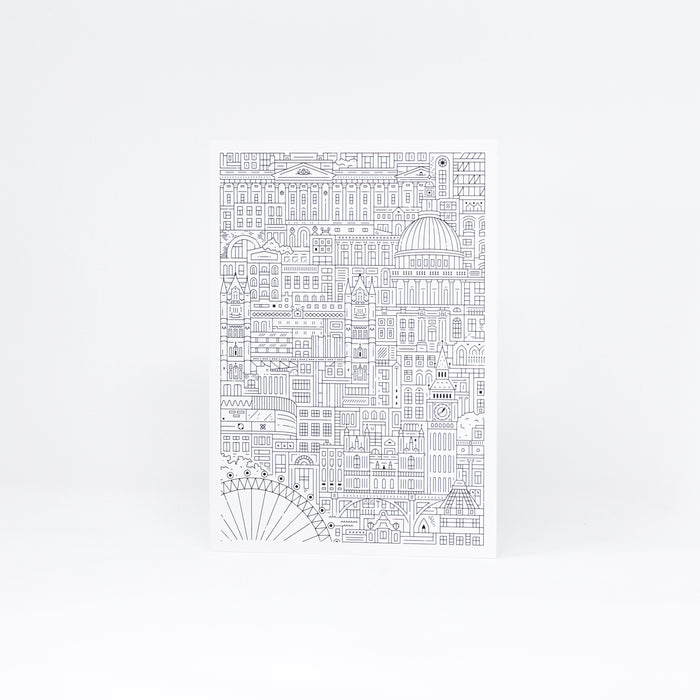 Monochrome London Greeting Card