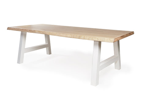 Tafel ARTH TRUNK OAK BOOMSTAMBLAD WHITE