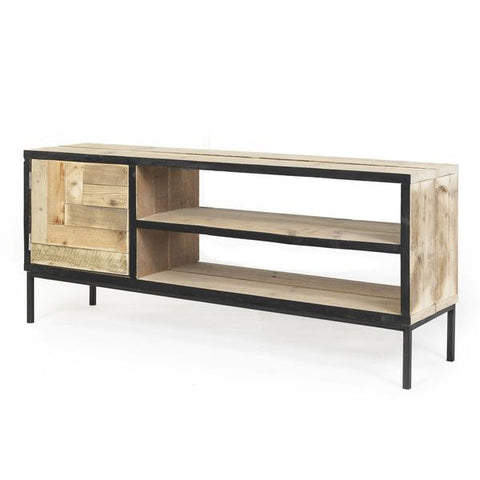 TV Meubel EDGE BLACK STEIGERHOUT METAAL LINKS