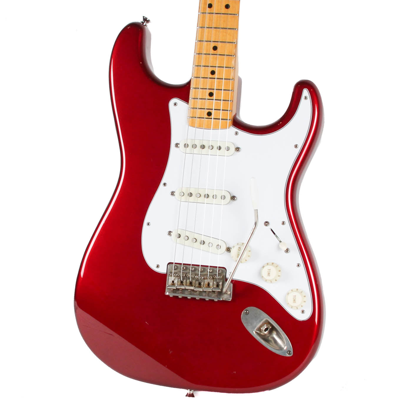 1994 Fender MIJ 70s Stratocaster Reissue Candy Apple Red image 5