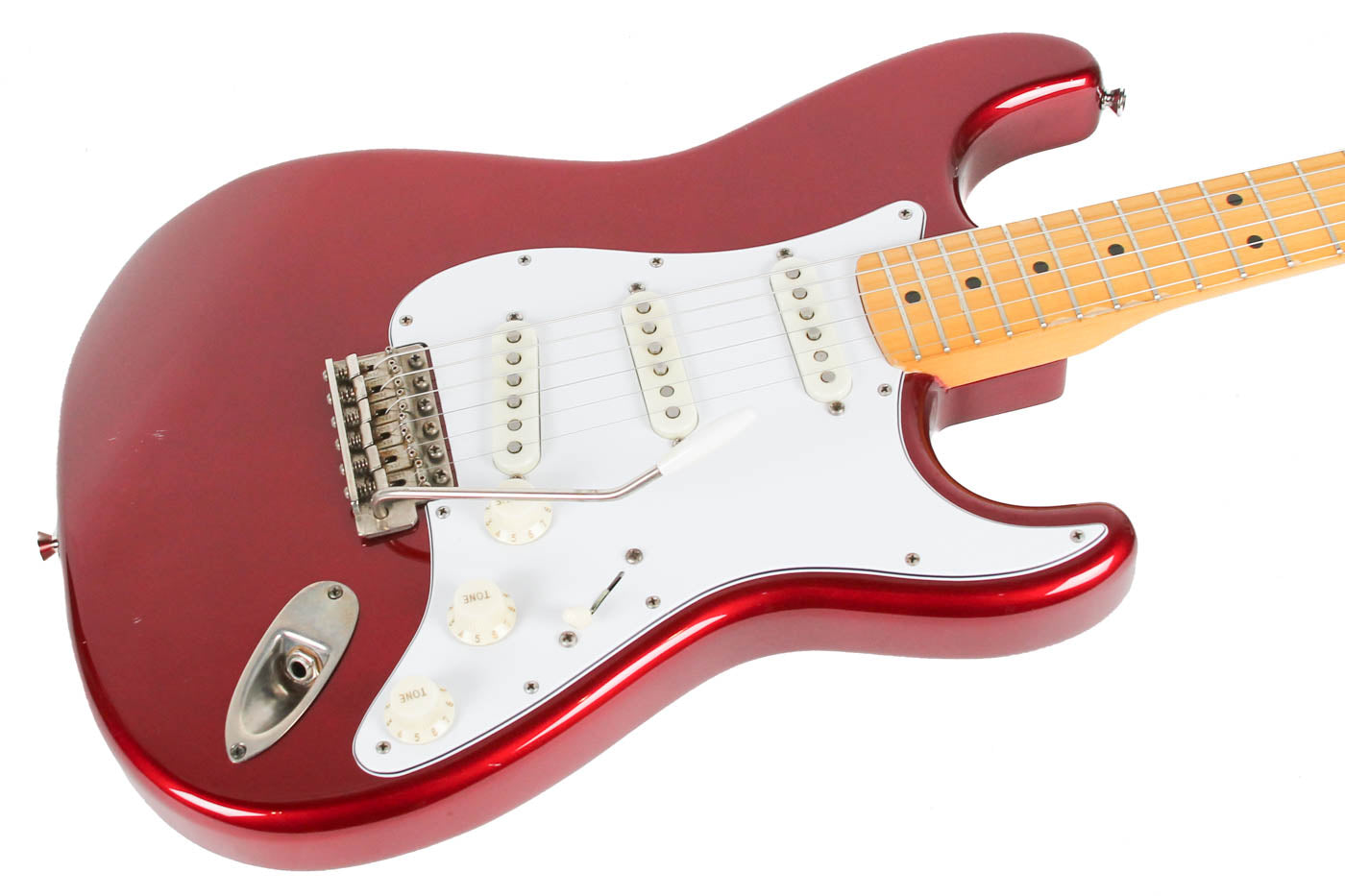 1994 Fender MIJ 70s Stratocaster Reissue Candy Apple Red image 7