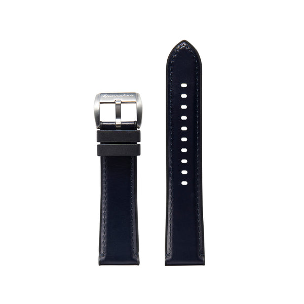 Durevole Rubber / Leather Hybrid Strap - 22mm