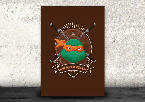 Michelangelo of the Teenage Mutant Ninja Turtles Art Print